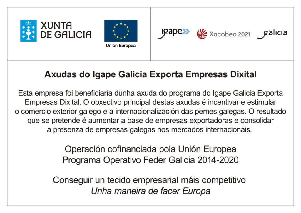 Cartel ayuda Galicia Exporta Empresas Dixital Integasa 2020