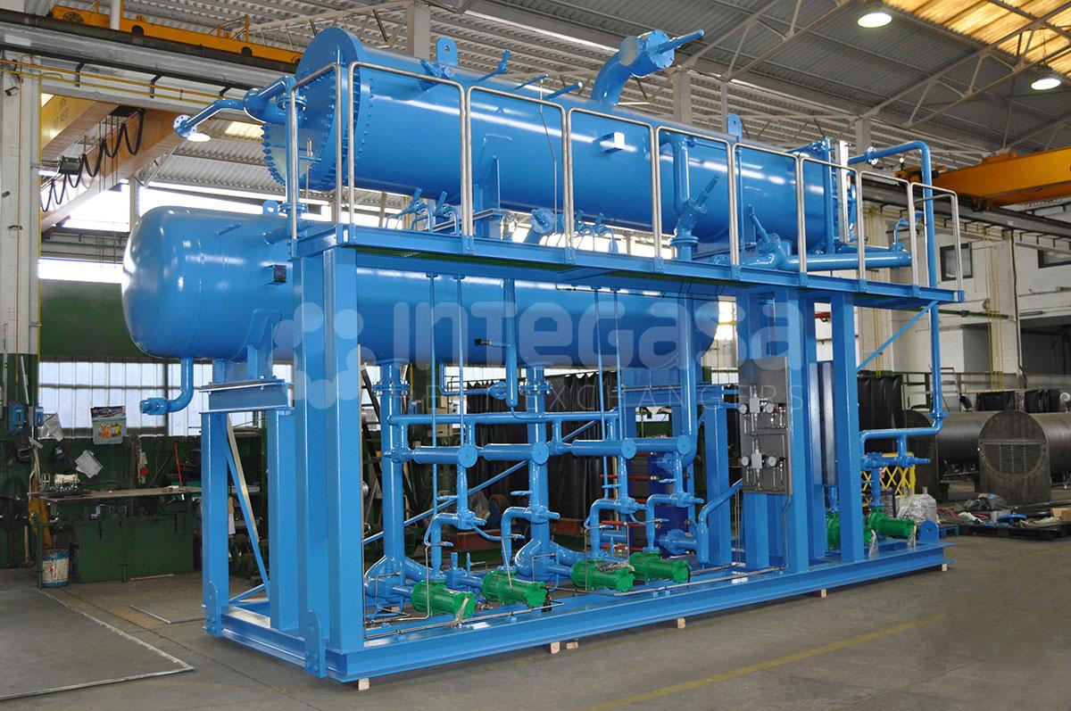 CO2 NH3 Cascade condenser spray chiller